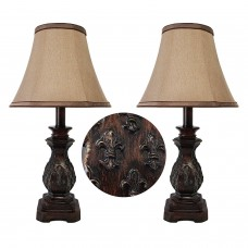 Carved Traditional Poly Table Lamp