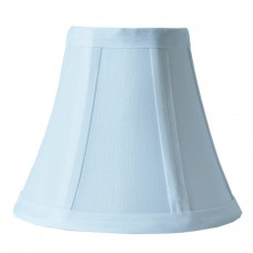 Round bell Geneva Pure White Fabric Clip Mini Shade
