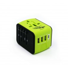 All-in-One International Travel charger Power Adapter with 3 USB
