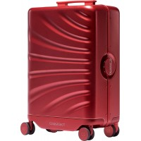 Smart Luggage Auto-follow 20 inch Carry-on Suitcase with USB Power Bank Ports, Intelligent tracking, Hands-free, Travel robot, Smart obstacle avoidance (Red)